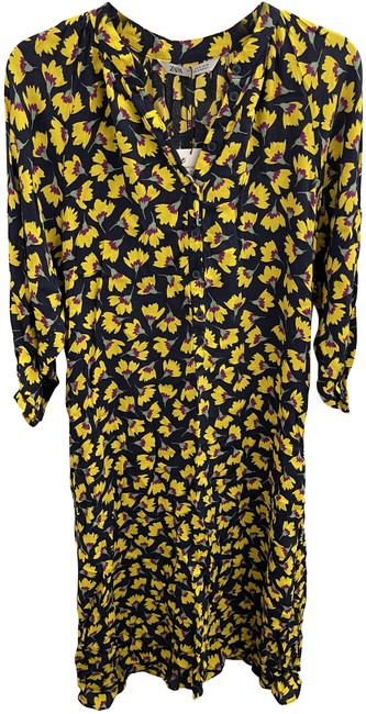 Item - Yellow Floral Mid-length Casual Maxi Dress Size 8 (M)