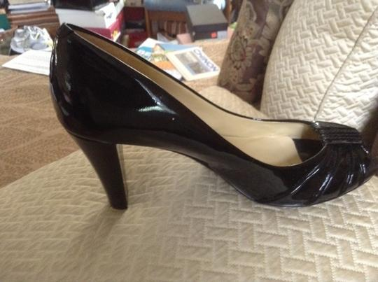 zatz Fine Patent Leather With Top Stitching On Buckle black Pumps