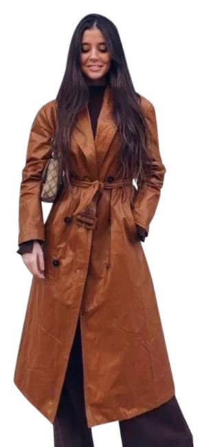 Item - Brown New Woman Limited Edition Faux Coat Trench Brick Jacket Size 6 (S)