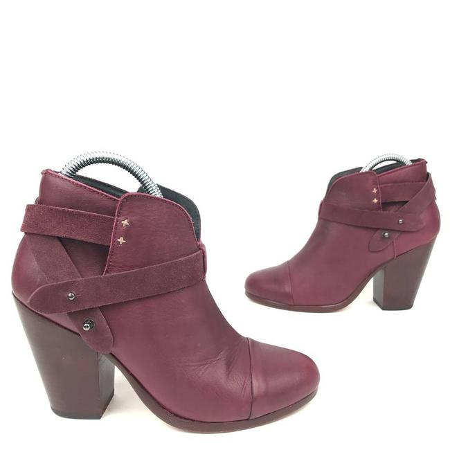 Item - Red Ankle Harrow 8 Port Leather Boots/Booties Size EU 38 (Approx. US 8) Regular (M, B)