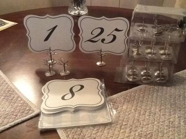 Item - Silver/White Vintage Style Table Numbers and Tree Holders Reception Decoration