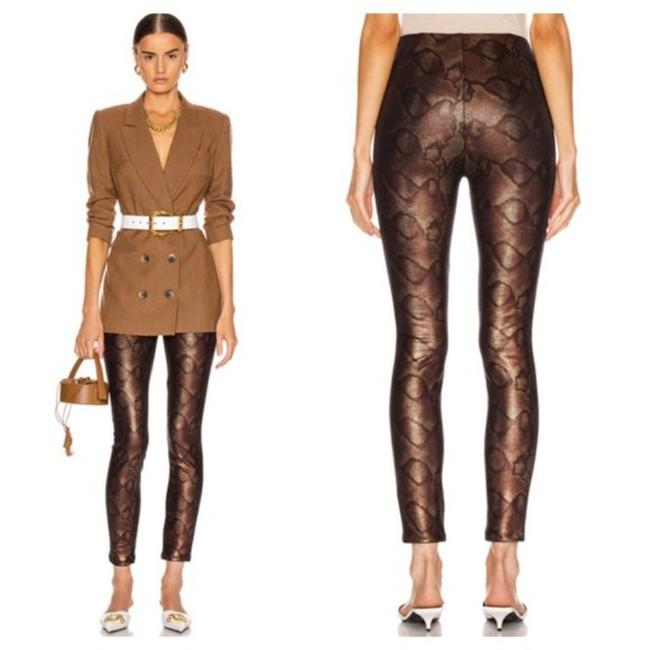 Item - Slither Brown/Copper Snake High Waisted Seamless Looker Ankle Pants Size 4 (S, 27)
