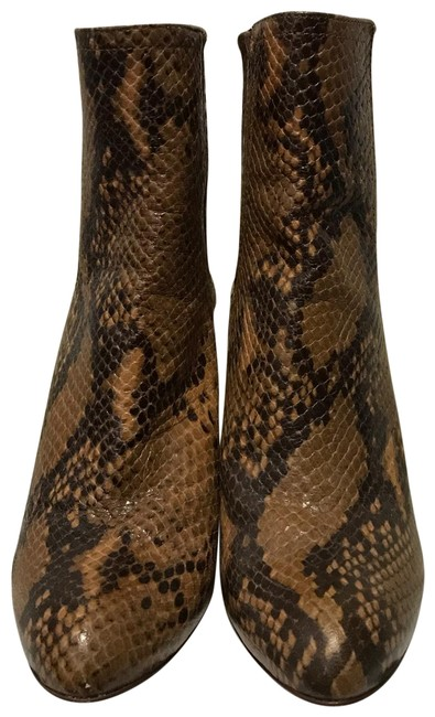 Item - Snake (Python) Pattern Ankle Boots/Booties Size EU 37 (Approx. US 7) Regular (M, B)