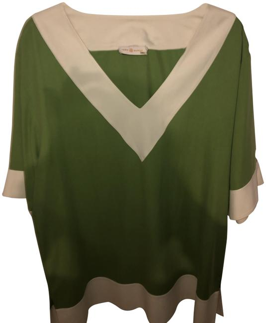 Item - Green Silk Tunic Size 16 (XL, Plus 0x)