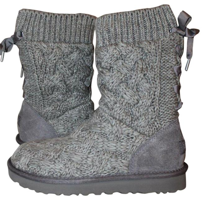 Item - Gray Isla Sweater and Suede Boots/Booties Size US 8 Regular (M, B)