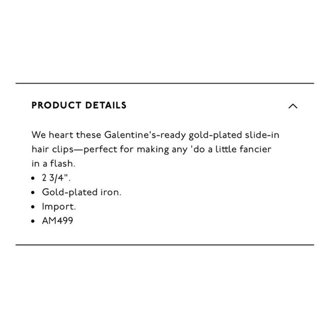 Madewell Gold Two Pack Pins Hair Accessory Madewell Gold Two Pack Pins Hair Accessory Image 3