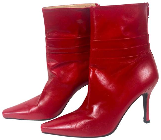 Item - Red Leather Pointy 7.5b Boots/Booties Size US 7.5 Regular (M, B)