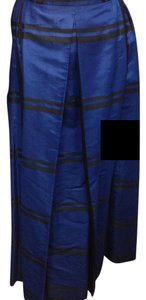 Long Sophisticate Feminine Skirt Blue & Black