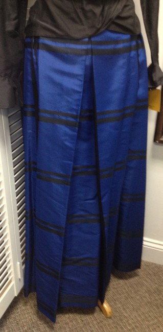 Other Long Sophisticate Feminine Skirt Blue & Black