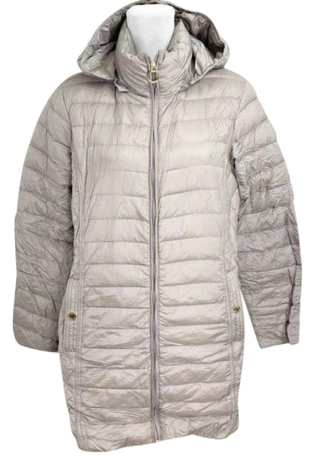 Item - Taupe Quilted Down Packable Parka Jacket Coat Size 12 (L)
