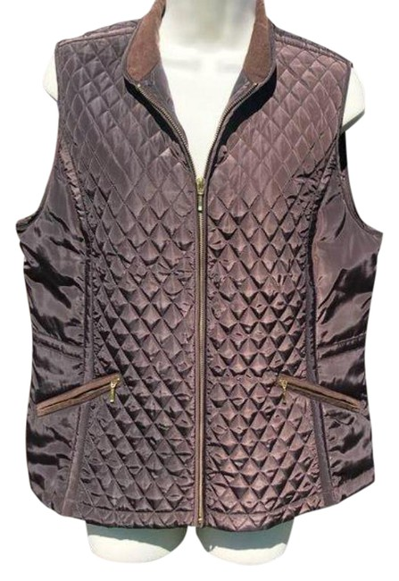 Item - Brown Quilted Vest Size 8 (M)