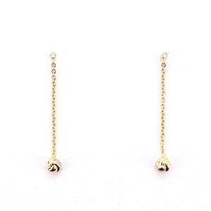 Item - Yellow Gold Baby Trinity Drop 18k Tricolor with Diamonds Earrings