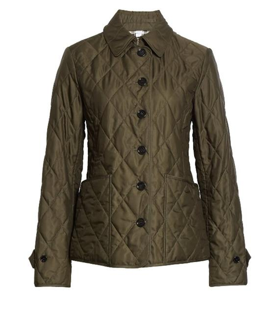 Item - Dark Olive XS Fernleigh Thermoregulated Diamond Quilted Jacket Size 2 (XS)