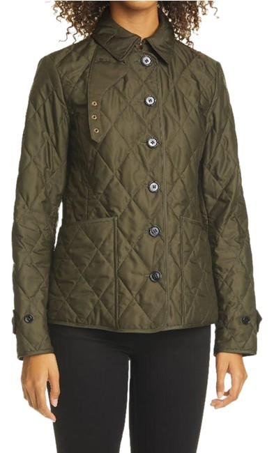 Item - Dark Olive Fernleigh Thermoregulated Diamond Quilted Jacket Size 8 (M)