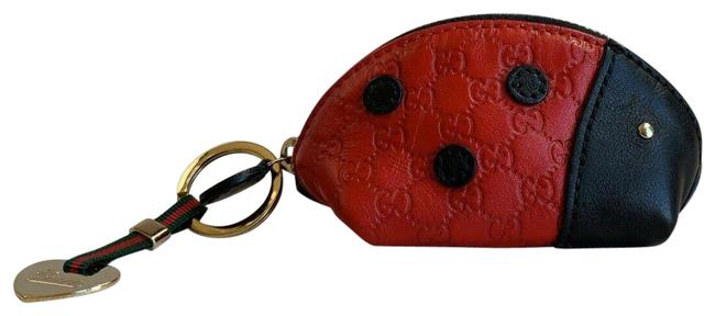 Item - Red & Black Zoo Collection Microguccissima Ladybug Mini Coin Purse 282640 Wallet