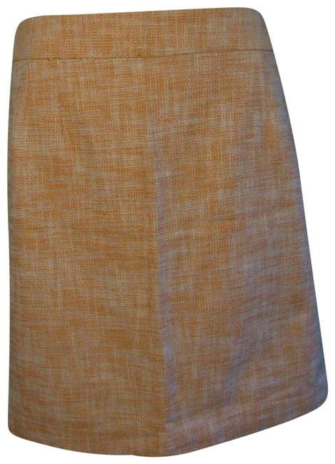 Item - Orange New White Straight Skirt Size 14 (L, 34)