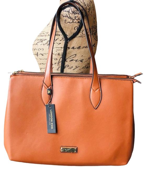 Item - . Brown Faux Leather Tote