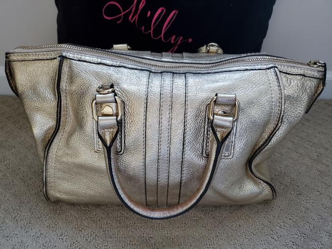 MILLY With Optional Shoulder Strap Gold Leather Satchel MILLY With Optional Shoulder Strap Gold Leather Satchel Image 2