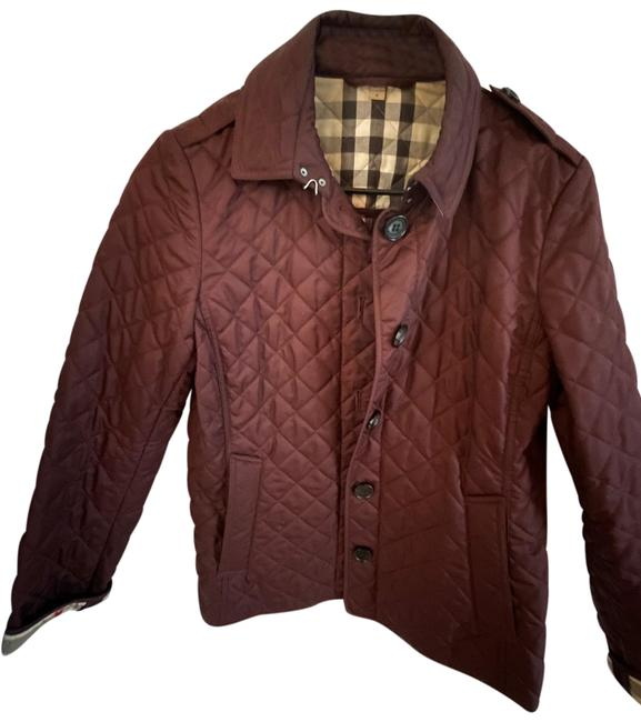 Item - Burgundy Quilted Jacket Size 8 (M)