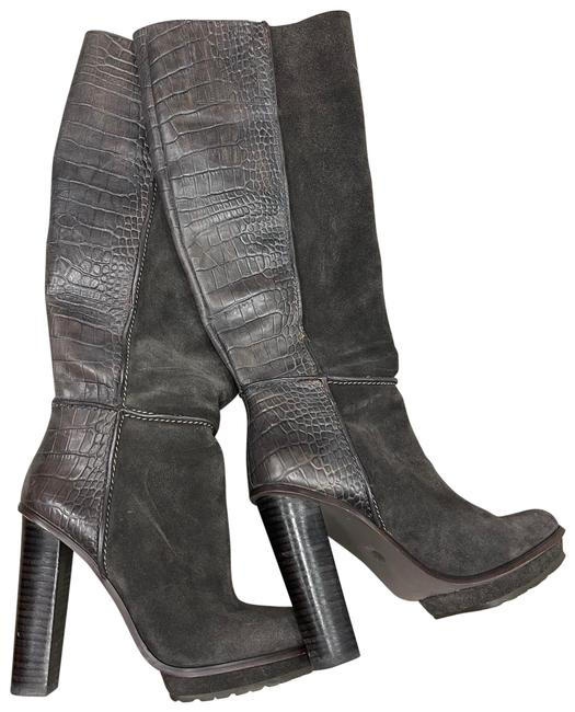 Item - Gray Mid Calf Tall Boots/Booties Size US 7.5 Regular (M, B)