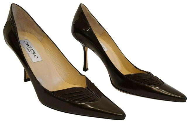 Item - Brown Glossy Kid Leather & Suede - - New Pumps Size EU 39 (Approx. US 9) Regular (M, B)