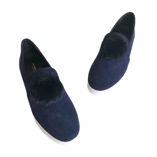Michael Kors Collection Blue Eddy Pom Pom Suede Slip-on Flats Size EU 39 (Approx. US 9) Regular (M, B) Michael Kors Collection Blue Eddy Pom Pom Suede Slip-on Flats Size EU 39 (Approx. US 9) Regular (M, B) Image 1