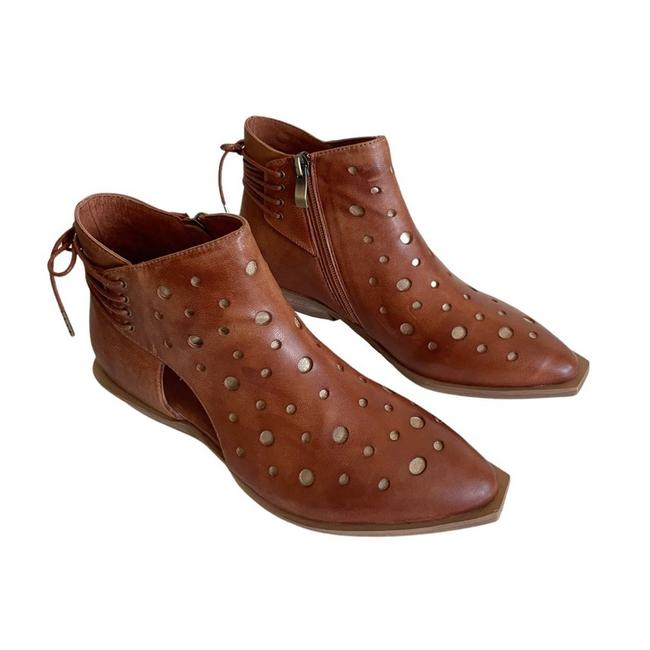 Item - Tobacco Leather Cutout Laceup Boots/Booties Size EU 36 (Approx. US 6) Regular (M, B)