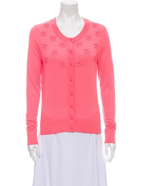 Item - Pink Embellished Flower Cardigan Size 6 (S)
