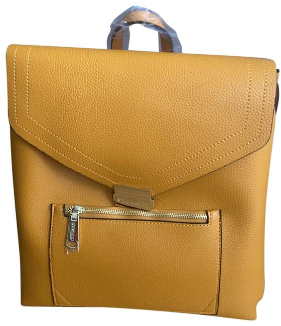 Item - Mustard Faux Leather Backpack