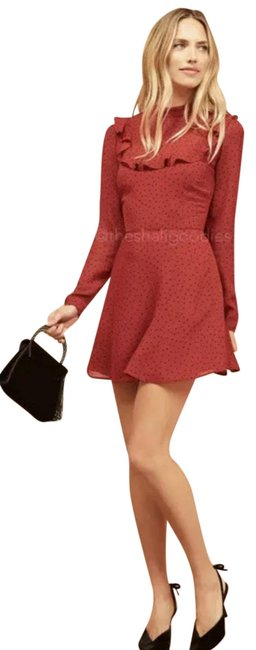 Item - Red and Black Flamenco Dot Short Casual Dress Size 0 (XS)