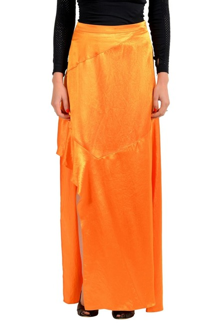 "Item - Orange Women's ""Rilani"" Bright Asymmetrical Skirt Size 10 (M, 31)"
