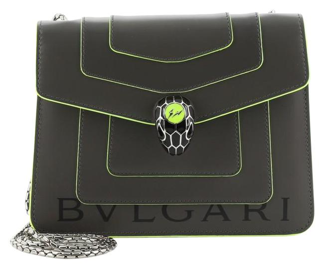 Item - Serpenti Forever Square Small Gray Green Leather Shoulder Bag