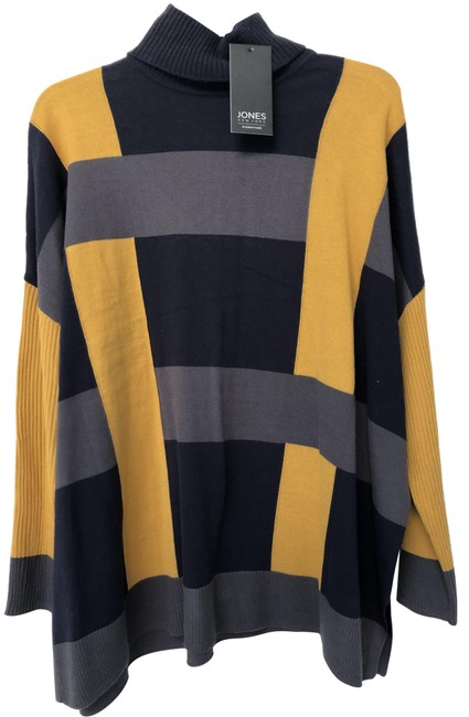 Item - Turtle Neck Multicolor Nay Yellow Gray Sweater