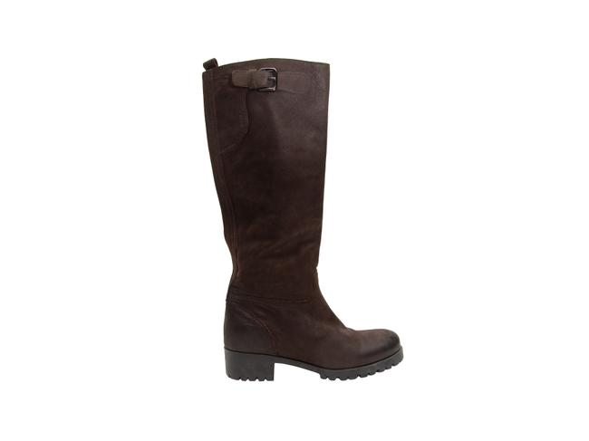 Item - Dark Brown Leather Riding Boots/Booties Size EU 38 (Approx. US 8) Regular (M, B)