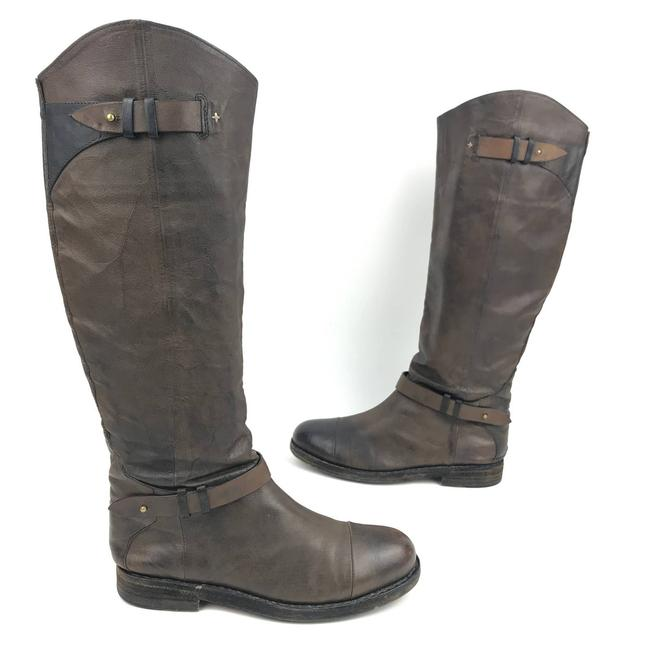 Item - Brown Abbey Distressed Leather Tall Knee High Riding Boots/Booties Size EU 36 (Approx. US 6) Regular (M, B)