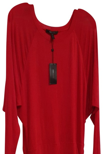 Item - Red For A 5'5 &5'6 Fit Tall Person. Mid-length Short Casual Dress Size 12 (L)