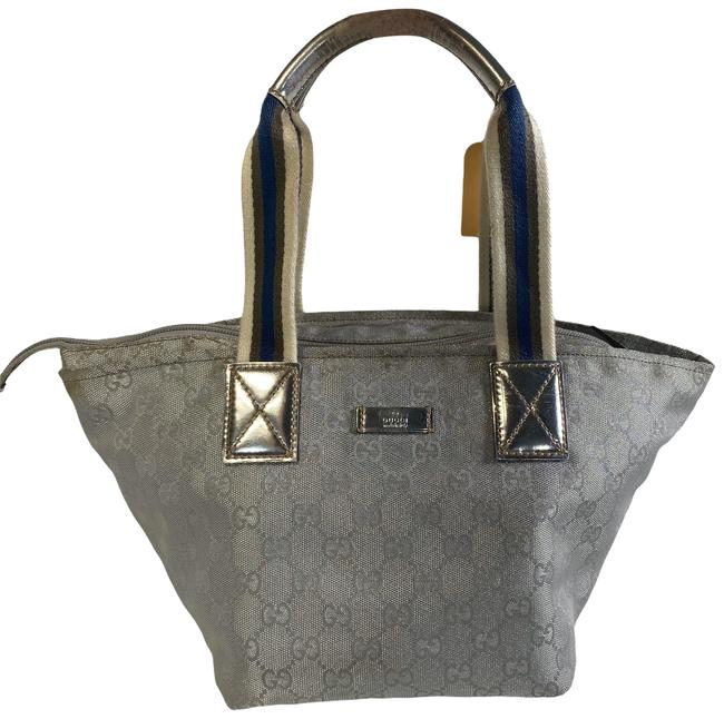 Item - Handbag Gray Canvas Satchel
