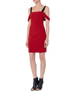 Item - Red Anova Off-the-shoulder Mini  Night Out Dress