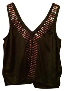 Patterson J. Kincaid Top Black with Gold Sequins