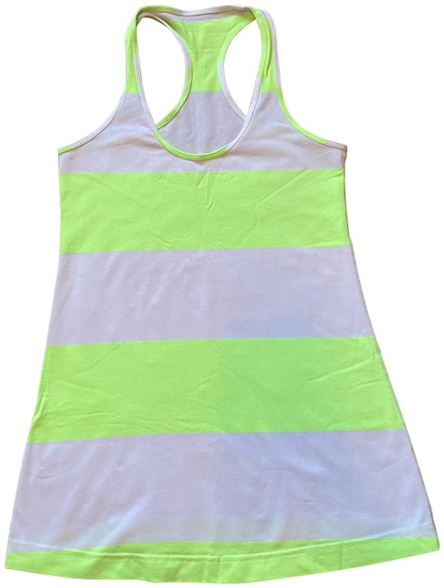 Item - White Green Cool Tank Activewear Top Size 6 (S)