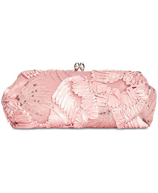 Item - Embroidered Pink Polyester Clutch
