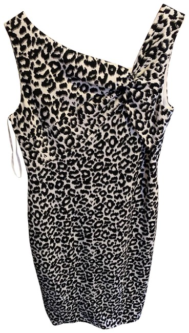 Item - Multicolored Animal Print Mid-length Cocktail Dress Size 8 (M)