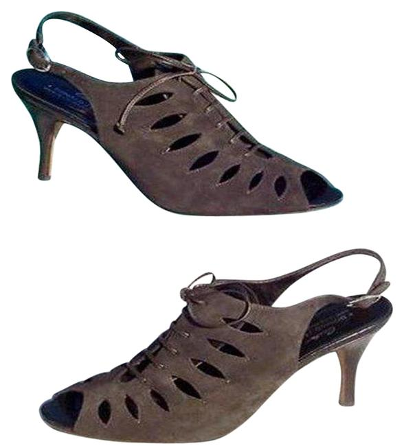 Item - Expresso -brown Black Couture Suede Leather New Lace Up Peep Toe Pumps Size US 7.5 Regular (M, B)