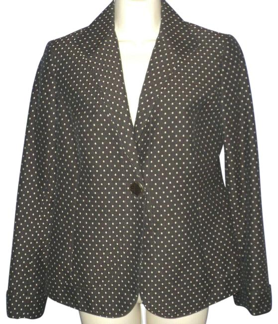 Item - Brown & Tan W W/ Accents Buttoned Closure Lined Classic Blazer Size 2 (XS)