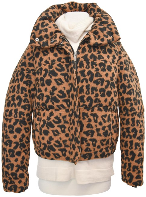 Item - Cheetah Brown Print Puffer Small Coat Size 6 (S)