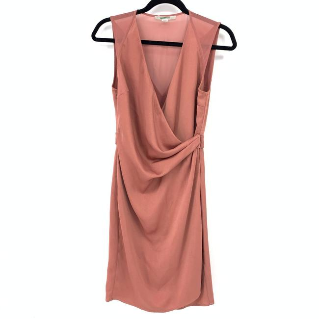 Item - Pink Sleeveless Wrap Draped Front Dusty Rose Cocktail Dress Size 6 (S)