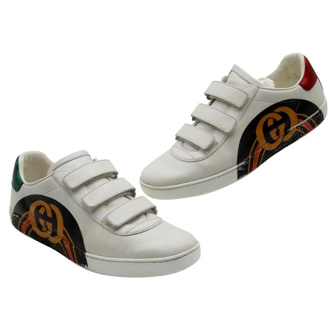 Item - White Velcro New Ace Leather Retro Logo Gg Sneakers Size EU 39 (Approx. US 9) Regular (M, B)