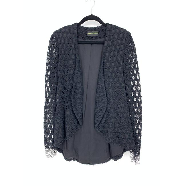 Item - Black Approx Medium Lace Open Front Blazer Size 8 (M)