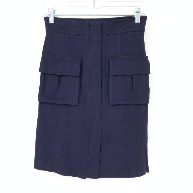Item - Blue Cargo Pocket Front Zip Navy Skirt Size 4 (S, 27)