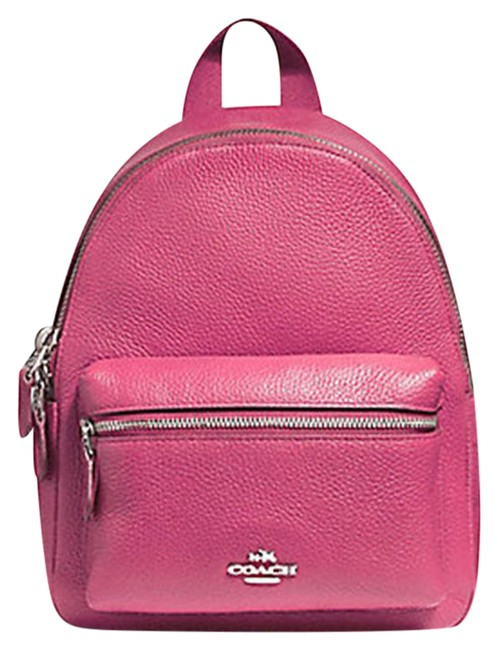 Item - Charlie F38263 Pebble Mini In Magenta Leather Backpack